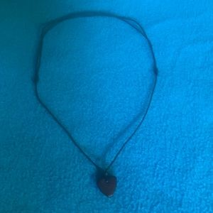 "Adjustable 14-26"" necklace with heart pendant"
